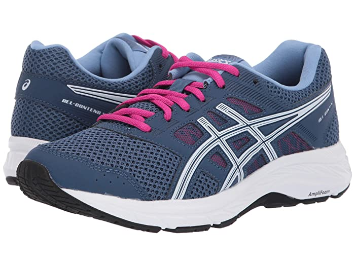 ASICS  GEL-Contend 5 (Grand Shark/White) Womens Running Shoes