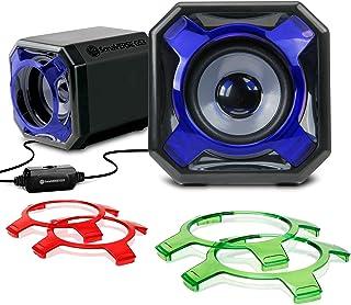 Gogroove Altavoces de Ordenador PC / Altavoces Gaming 2.0 / Set de Altavoces / Sistema Audio Speakers USB para juegos PC
