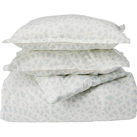Amazon Com Echo Mykonos 3 Piece Comforter Set Sky White Queen Home Kitchen
