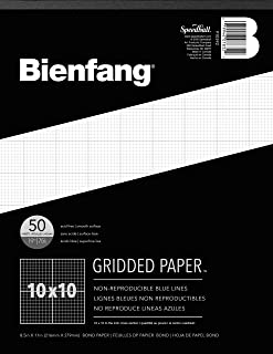 Bienfang 910592 Designer Grid Paper, 50 Sheets, 8-1/2-Inch by 11-Inch Pad, 10 by 10 Cross Section