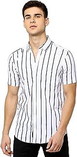 Maniac Striped Men's Half Sleeve Slim Fit Casual Shirt