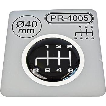 30/x 38/mm de 6/marchas Pomo para emblema silicona Pegatinas Esquema 2 1/x palanca de cambios ovalada