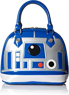Star Wars R2D2 Blue/White/Silver Patent Dome Bag