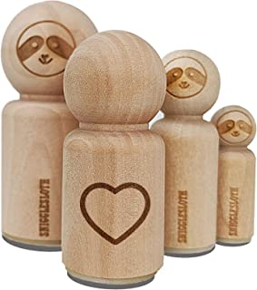 Heart Hollow Rubber Stamp for Stamping Crafting Planners - 1 Inch Medium
