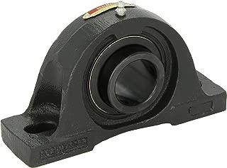 Sealmaster NP-20 Pillow Block Ball Bearing, Non-Expansion Type, Normal-Duty, Regreasable, Setscrew Locking Collar, Felt Seals, Cast Iron Housing, 1-1/4