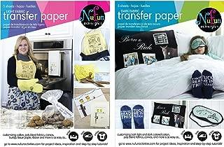 NuFun Activities Inkjet Printable Iron-On Heat Transfer Paper, Light and Dark Combo Pack, 8.5 x 11 inch, 25 Sheets Light/25 Sheets Dark