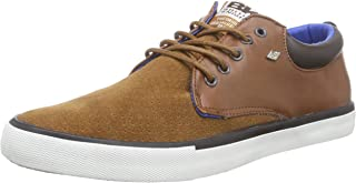 British Knights Men's Juno Cognac, Black and Blue Sneakers