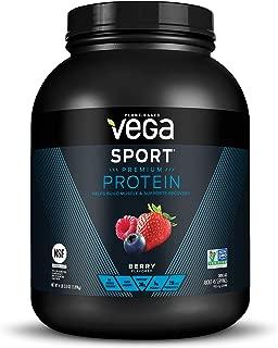 Vega Sport Protein Powder Berry (45 Servings, 67 Ounce (Pack of 1)) - Plant Based Vegan Protein Powder, BCAAs, Amino Acid, Tart Cherry, Non Dairy, Keto-Friendly, Gluten Free,  Non GMO, NSF Certified