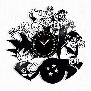 Dragon Ball Z Vinyl Record Clock - Dragon Ball Wall Clock - Best Gift for Fans Dragon Ball Z - Original Wall Home Decor