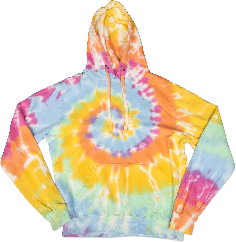 High quality new Swirly Spiral Unisex Adult Tie Hooded Hoodie Wholesale Sweatshirt Dye