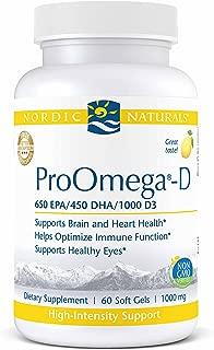 Nordic Naturals Proomega-D Fish Oil 650 Mg Epa 450 Mg Dha 1000 Iu Vitamin D3 Cholecalciferol