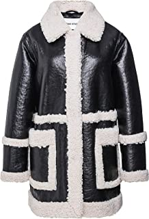Stand Women's Haley Faux Shearling Trimmed Jacket Black