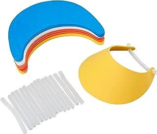 Foam Visors - 16-Pack Adjustable Visors, EVA Sun Visor, 9.25 x 7 x 0.06 Inches
