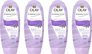 Olay Moisture Ribbons Plus Shea + Lavender Oil Body Wash, 18 oz, pack of 4