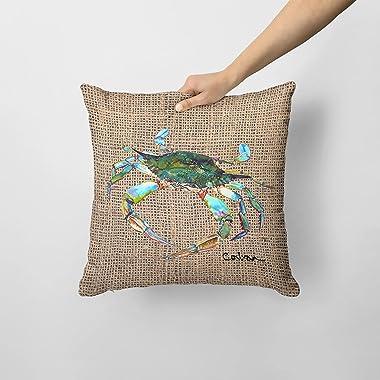 Caroline's Treasures 8731PW1414 Crab Decorative Canvas Fabric Pillow, 14Hx14W, Multicolor