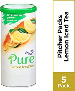 Crystal Light Pure Lemon Iced Tea Drink Mix, Caffeine Free, 2.28 oz Can