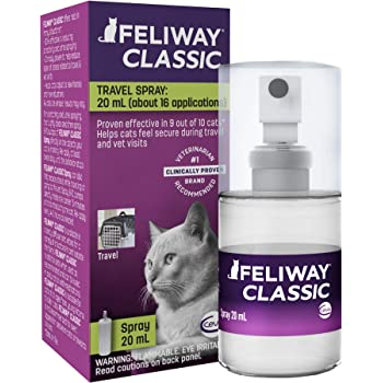 Feliway Cat Calming Pheromone Spray (20ML)   #1 Vet Recommended Solution   Reduce Anxiety for Vet Visits, Travel, Loud Noises and More