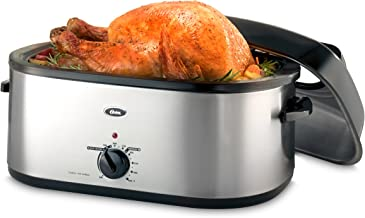 Oster 20-Quart Roaster with Self-Basting, High-Dome Lid, Brushed Stainless Steel - CKSTRS20-SBHVW