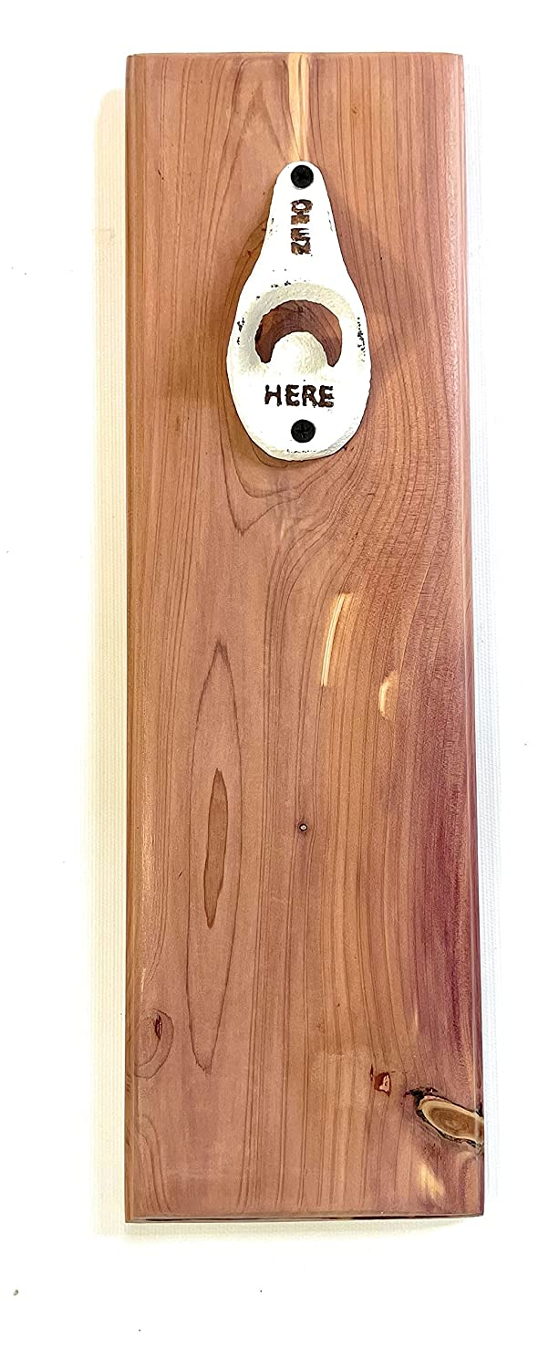 Cedar Bottle Opener Free shipping / New - Mounted Handcrafted Wall Popular shop is the lowest price challenge