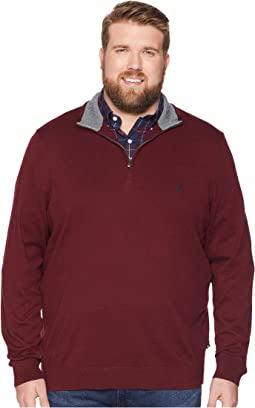 Big & Tall 1/4 Zip Mock Neck