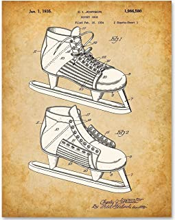 Hockey Skate - 11x14 Unframed Patent Print - Makes a Great Gift Under $15 for Hockey Players and Fans