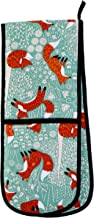 Ulster Weavers 7FFX03 Foraging Fox Double Oven Glove, Mint/Multi