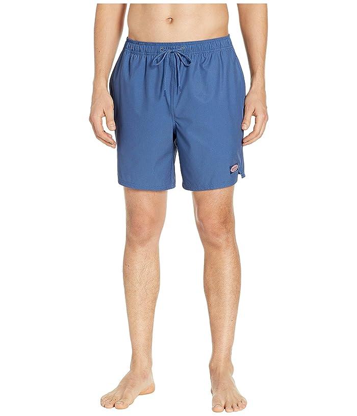 Vineyard Vines Fine Line Stripe Chappy Swim Shorts (Moonshine) Men