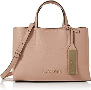 Calvin Klein Sided Med Tote, Women's Pink (Nude), 1x1x1 cm (W x H L)