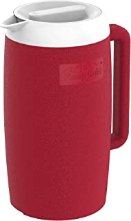 Cosmoplast Plastic Insulated Cooler Water Jug 1.5 Liter Red, MPICJG005RD, Cosmoplast Keep Cold Insulated Jug 1 Liter