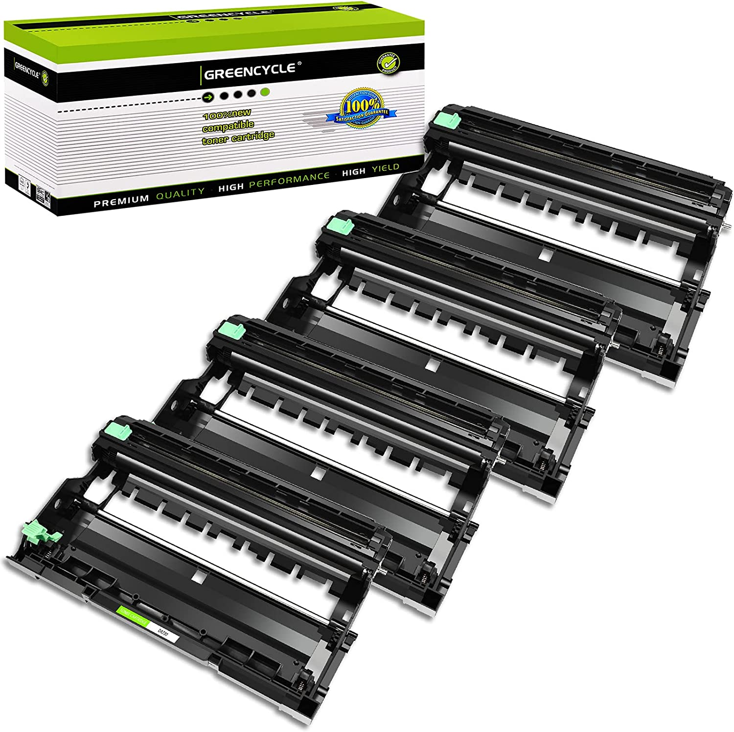 GREENCYCLE Compatible Drum Unit Replacement for Brother DR730 DR-730 Use for DCP-L2550DW HL-L2350DW HL-L2395DW HL-L2390DW HL-L2370DW MFC-L2710DW Printer (Black, 4-Pack)