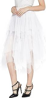 white dress tulle skirt