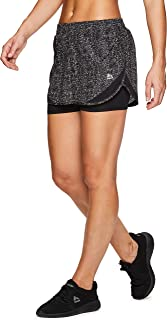 Active Women's Workout Running Shorts with Attached Bike Short