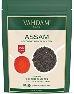Assam Black Tea Leaves (200+ Cups) I STRONG, MALTY & RICH I 100% Pure Unblended I Single Origin Black Loose-Leaf Tea I Mak...