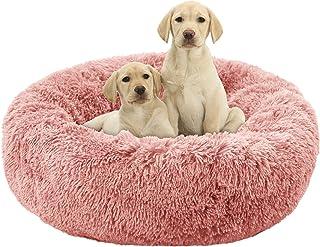 CHONGFA Dog Bed, Donut Dog Bed, Dog Cat Pillows, Calming Dog Orthopedic Bed, Cuddler Round Plush Dog Bed for Large Medium ...