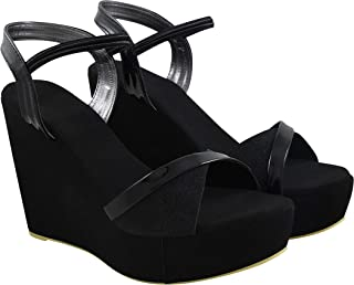 Do Bhai Women Wedge Platform Heel Sandal