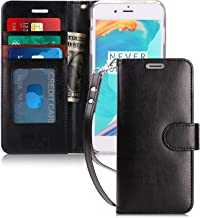 FYY iPhone 6S Plus Case, iPhone 6 Plus Case, Luxury PU Leather Wallet Case, [Kickstand Feature] Flip Folio Case Cover with [Card Slots] and [Note Pockets] for iPhone 6S/S Plus Black