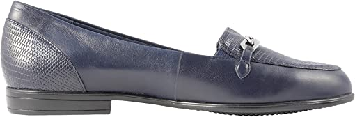 Navy Leather Lizard/Stamp