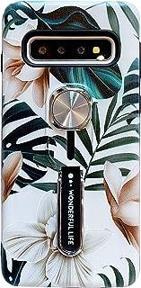 Hosgor - Funda para teléfono Samsung Galaxy S10, diseño de flores, resistente a los golpes, delgada, suave TPU + correa de...