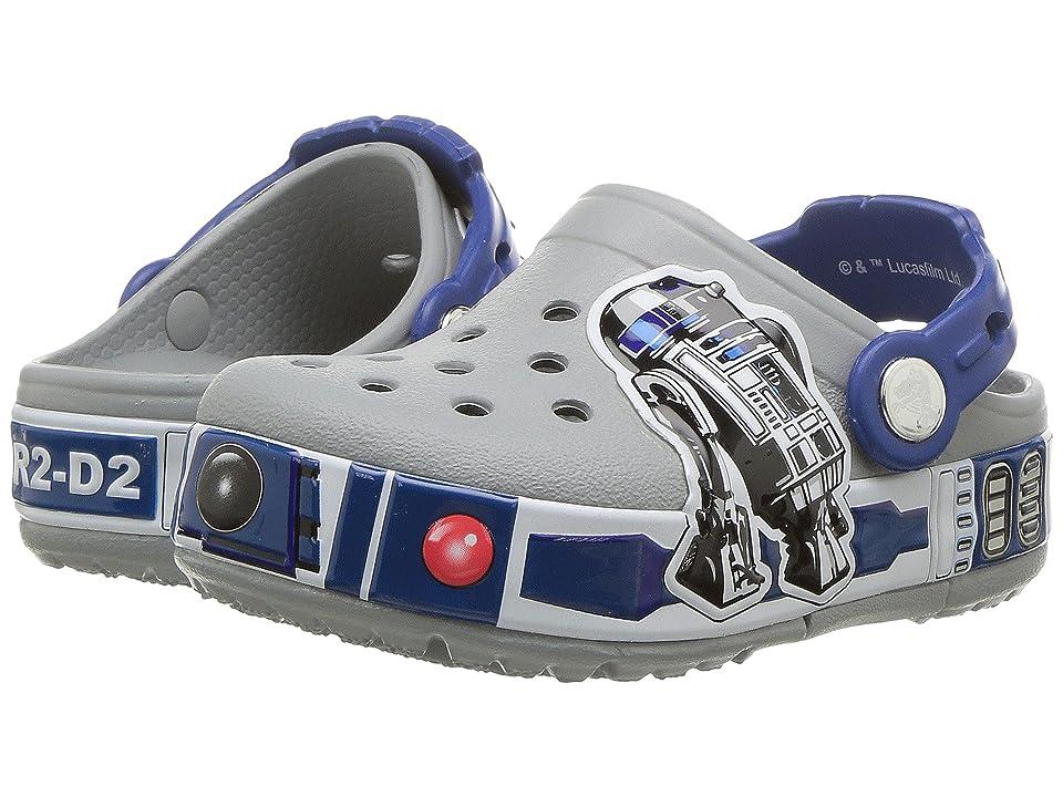 Crocs Kids Crocband R2D2 Lights Clog (Toddler/Little Kid) (Light Grey) Boys Shoes