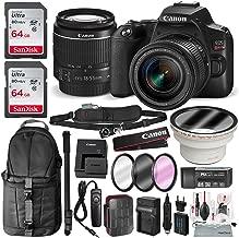 Canon EOS Rebel SL3 DSLR Digital Camera with 18-55mm Lens + 64GB + Cases + Battery Kit + Premium Accessory Bundle