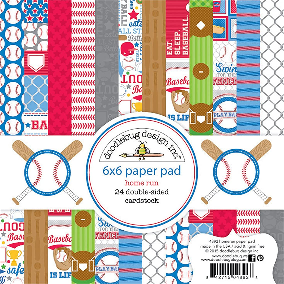 DOODLEBUG 4892 Double-Sided Paper Pad (24 Pack), 6