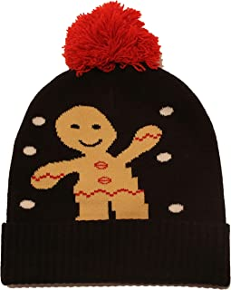 CRIS & Miss Christmas Beanie Hats for Adults Men Women Kids Boys Girls (Gingerbread Man)