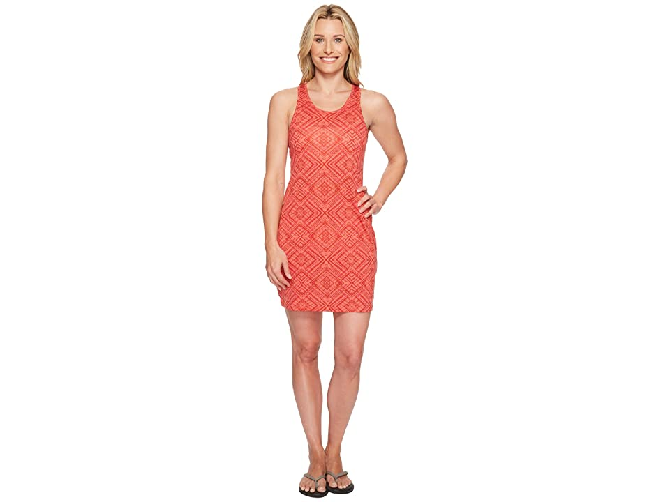 Smartwool Basic Merino 150 Pattern Dress (Bright Coral) Women