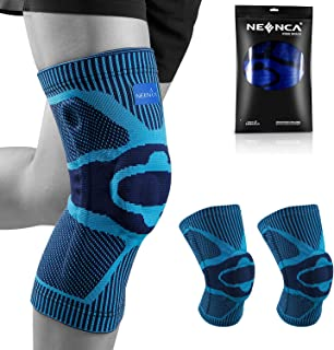 NEENCA 2 Pack Professional Knee Brace,Knee Compression Sleeve,Medical Grade Knee Support,Patented Knee Protector for Runni...