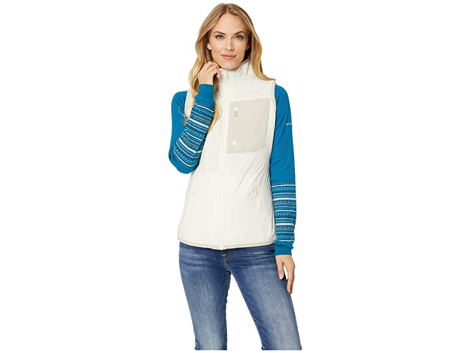 Columbia Bryce Canyontm Reversible Vest (Light Bisque/Fossil/Light Bisque Sherpa) Women
