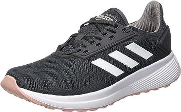 حذاء جري حريمي من adidas Duramo 9، رمادي (رمادي 6/Ftwr أبيض/وردي معكرو)