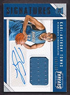 2015-16 Panini Threads Basketball Rookie Jersey Auto #RTS-KT Karl Anthony-Towns 174/199