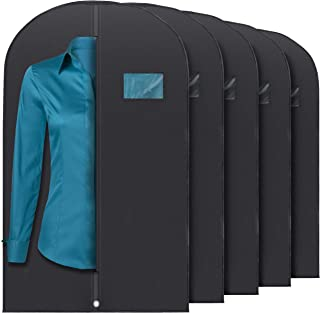 Pack of 2,Black MASKEYON 51 Garment Bags with Zipper Pocket for Dance Costume,Wedding Gown,Suit,Furs,Garment Bags for Travel and Storage