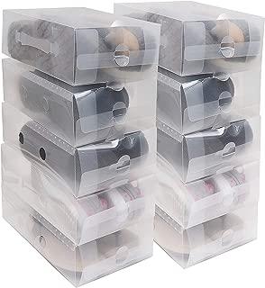 Desconocido Femor 10//20 Cajas de Zapatos Zapatero CAJ/¨/®n Transparente Plegable Apilable Caja Guardar Zapatos Hechas de Papel Favorable al Medio Ambiente 20 ?