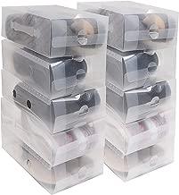 Zapatos apilable plegable Organizador transparente para hombres y mujeres Pack de 20 cajas Ahorre zapatos transparentes de plástico corrugado por Kurtzy-Zapatos impermeables Organizador - Zapatos pequ